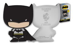NIUE 2020 $2 1-oz Silver DC Comics Chibi Batman Proof Coin in OGP