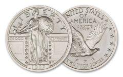 Intaglio Mint 2-oz Silver 1917 Standing Liberty Quarter Type II Tribute Gem BU
