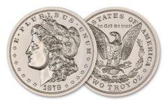 Intaglio Mint 2-oz Silver 1878 Morgan Dollar Tribute Gem BU