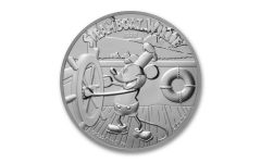 2020 Niue $2 1-oz Silver Disney Steamboat Willie Proof