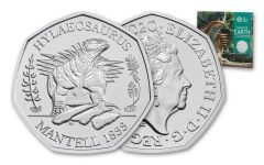 2020 Great Britain 50p 8-gm CuNi Dinosauria Collection Hylaeosaurus BU