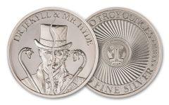 Intaglio Mint 2-oz Silver Vintage Horror Series Jekyll & Hyde Round BU
