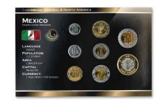 Mexico World Coin Set Uncirculated Blister Pack