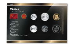 China World Coin Set Uncirculated Blister Pack