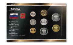 Russia World Coin Set Uncirculated Blister Pack