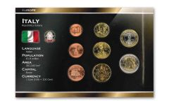 Italy World Coin Set Uncirculated Blister Pack