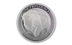 2020 MintID 1-oz Silver Buffalo Round BU w/AES-128 Bit Encrypted NFC Microchip Authentication