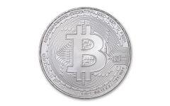Republic of Chad 2020 5,000 Francs CFA 1-oz Silver Bitcoin Crypto Currency Coin Gem BU