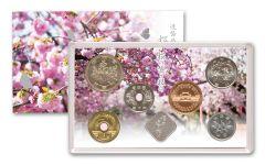 7-PC JAPAN 2020 CHERRY BLOSSOM BU COIN SET