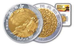 2020 China Gold & Silver Auspicious Wealth Bi-Metal Proof NGC PF70UC