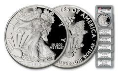 2016–2020-W $1 1-oz Silver Eagle Proof 5-pc Set PCGS PR70 DCAM w/Mercanti Signature
