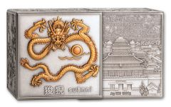 2020 CHINA KILO SILVER NINE DRAGON CUBE