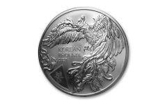2020 South Korea 1 oz Silver Phoenix Medal GEM BU