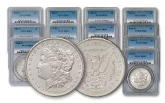 1878–1904-S/O Morgan Silver Dollar 12-pc Set PCGS MS63