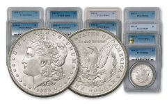 1878–1904-S/O Morgan Silver Dollar 12-pc Set PCGS MS64
