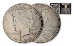 "1934 ""Comeback"" Peace Silver Dollar Circulated"