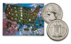 2010–2020 America the Beautiful Quarters 50-Coin Set w/Map