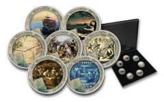 Cold Enamel Collection: Mayflower 400th Anniversary 7-pc Uncirculated Set
