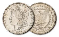 1878-P Morgan Silver Dollar 7/8-Tail Feathers AU