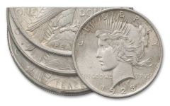 1923-PDS Peace Silver Dollar 3-pc Set XF
