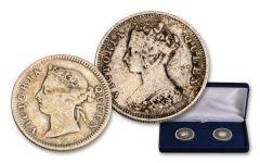 1866–1901 Hong Kong Victoria 2-pc Set VG–F