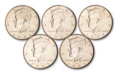 2002–2006 Kennedy Half Dollar 5-pc Set BU