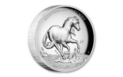 2020 Australia $2 2-oz Silver Brumby Horse High Relief Proof