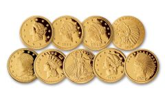 Smithsonian U.S. Classic Gold Coin Designs 9-pc Collection