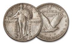 1926–1930 Standing Liberty Silver Quarter AU–BU
