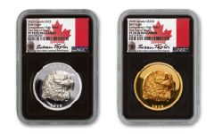 2020 Canada Eagle Extraordinarily High Relief Gold & Silver Proof 2-Coin Set NGC PF70 UC FDP Black Core Exclusive Taylor Signed #2