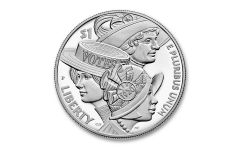 2020-P $1 SILVER WOMEN' S SUFFRAGE PROOF W/OGP
