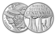 2PC 2020-P SILVER WOMEN'S SUFFRAGE PROOF MEDAL SET