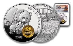 2020 China 50-gm Silver ANA Show Panda Proof NGC PF70UC First Day of Issue w/Tong Signature