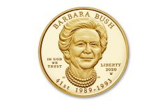 2020-W $10 GOLD BARBARA BUSH PROOF W/OGP