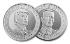 """2020 5-oz Silver U.S. Presidential Election """"Flip Coin"""""""