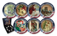 Cold Enamel Collection: Christmas Traditions of America 7-pc Uncirculated Set