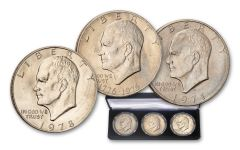 1971–1978 Eisenhower Dollar 3-pc Circulated Set