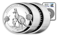 2020 Australia $8 5-oz Silver Kangaroo High Relief Proof NGC PF70UC First Day of Issue w/Opera House Label