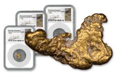 SS Central America 1.01–1.30-Gram Gold Nugget 3-pc Set