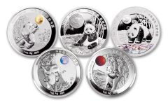 2020 China 1-oz Silver Moon Festival Panda 5-pc Legacy Proof Set