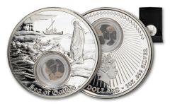 2021 Niue $2 1-oz Silver In the Footsteps of Jesus Sea of Galilee Proof
