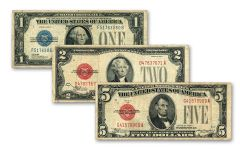 1928 Small-Sized Paper Currency 3-pc Set Circulated