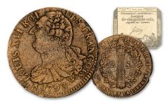 1792–1793 France 2 Soles King Louis XVI w/Assignat Note