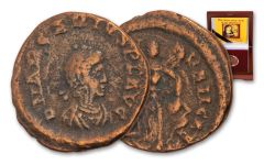A.D. 383–408 Rome Arcadius Virgin Mary Coin w/Box