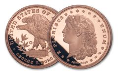 1879–2019 Smithsonian 1-oz Copper Morgan Schoolgirl Dollar Proof