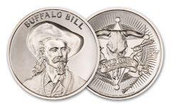 Intaglio Mint 1-oz Silver Wild West Legends Buffalo Bill Medal BU