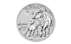 2021 Australia 50₵ 1/2-oz Silver Lunar Year of the Ox BU