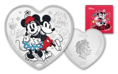 2021 Niue $2 1-oz Silver Disney Love – Ultimate Couple Colorized Proof