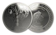2019 Tokelau $5 1-oz Silver Equilibrium BU