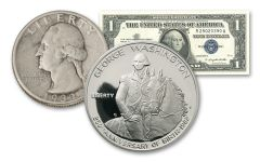 1932–1982 Tribute to George Washington Coin & Currency 3-pc Set